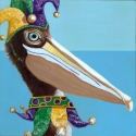 Mardi Gras Pelican
